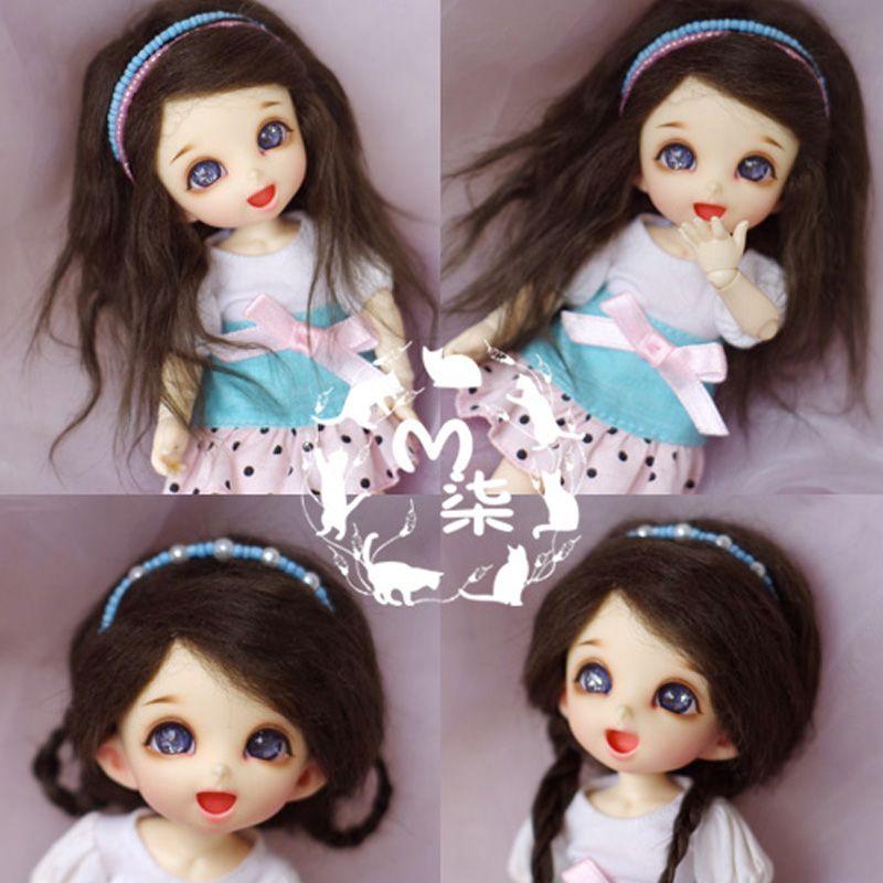 1 pièces 6 couleurs poupée accessoires SD BJD poupée perruques 1/8 1/12 perruques pour poupées bricolage