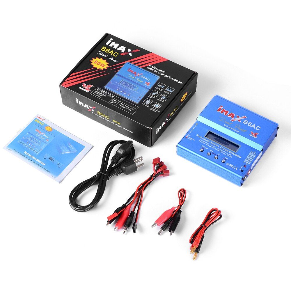 Build-Power IMAX B6AC Digital RC B6 AC 80W Lipo NiMH Nicd Lithium Battery Balance Charger Discharger With LCD Screen EU/US Plug