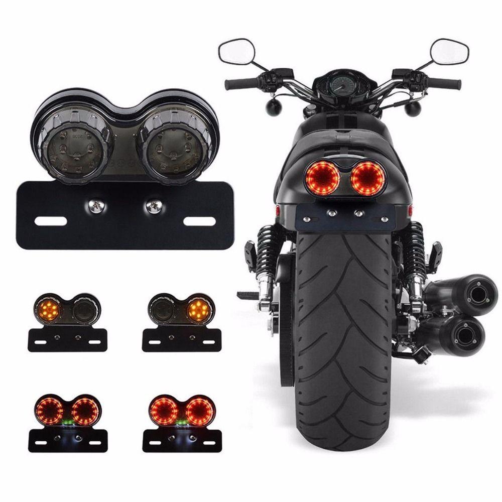 поворотники на мотоцикл Мотоцикл поворота тормоз светодиодные Номерной знак держатель хвост фонари светодиодные Стоп Хвост Лампы для Harley ...