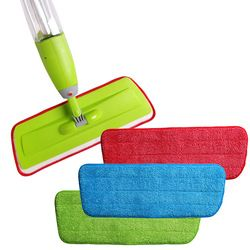 Congis 3PCS/set Fiber Spray Mop Head Floor cleaning cloth Paste The Mop Replace Cloth Household Cleaning Mops Accessories