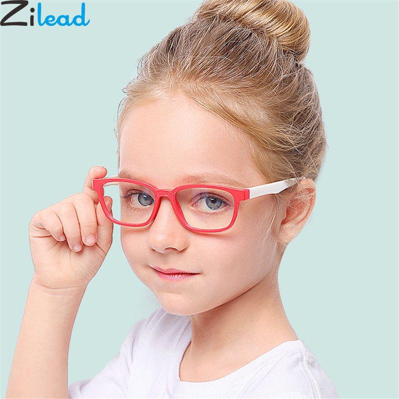 Zilead 2018New Baby Anti-blue Light Silicone Glasses Brand Children Soft Frame Goggle Plain Glasses Kids Eye Fame Eywear Fashion