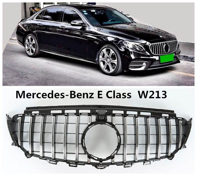 Auto Grille Racing Grills For Mercedes-Benz E Class W213 E63AMG E180 E200 E260 E300 2016 2017 2018 High Quality ABS Accessories