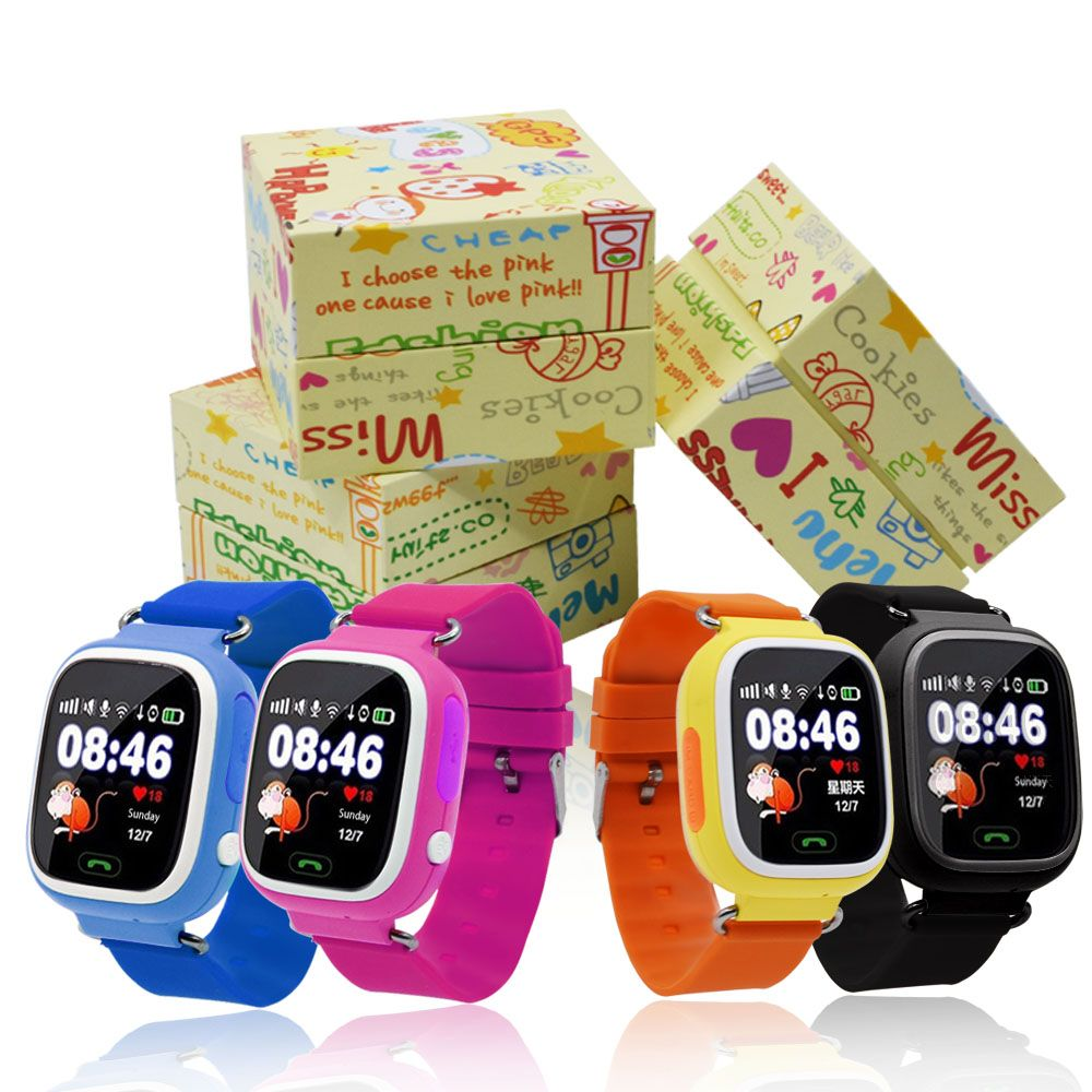 GPS Q90 Smartwatch Touch Screen WIFI Positioning Children Smart Wrist Watch Locator PK Q50 Q60 Q80 for Kid Safe Anti-Lost #b5
