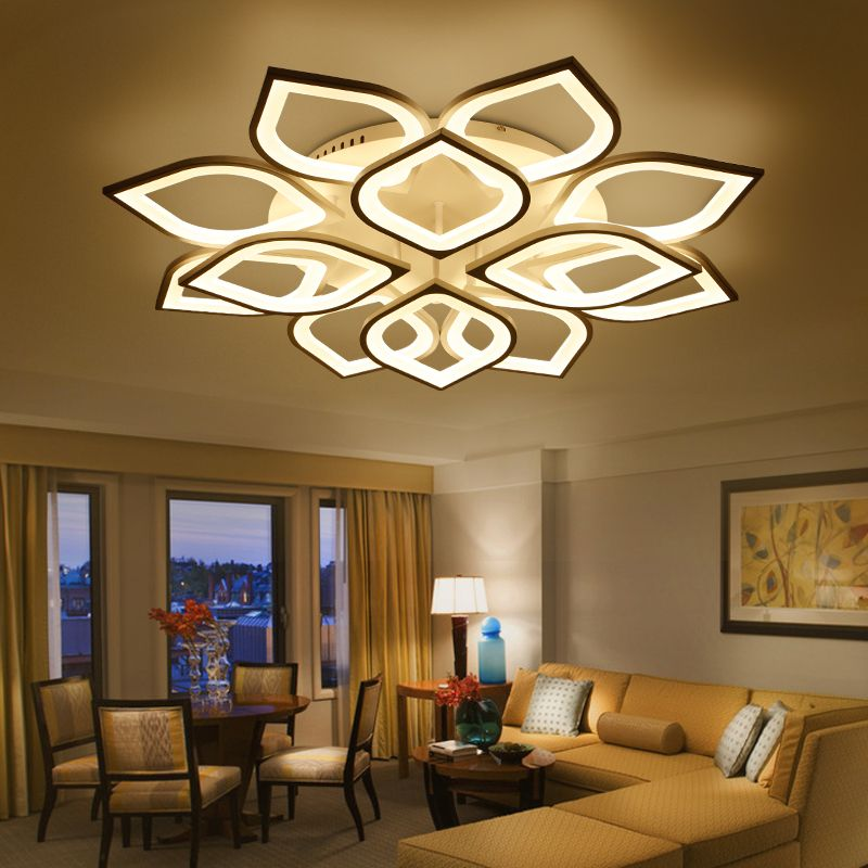 NEO Gleam New Acrylic Modern Led ceiling Chandelier lights For Living Room Bedroom Home Dec lampara de techo led moderna Fixture
