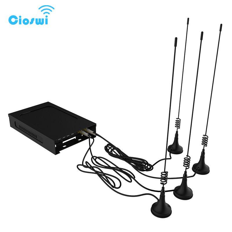 Router wifi 300 mbps 5dBi externe antennen Auto/Bus 3g 4g modem openWRT router wireless long range mit sim karte slot