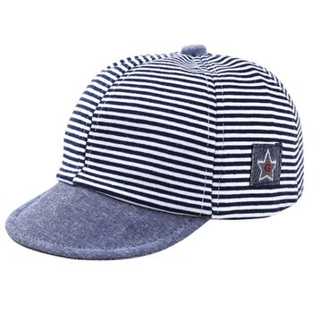 2018 Summer Fashion Cute Baby Striped Hat Cotton Blend Baby Boy Cap Adjustable Infant Hats for Girls 1-2T