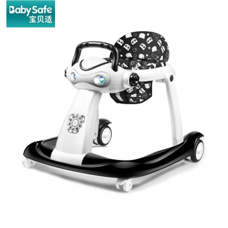 Multi-function baby walker anti-rollover 6/7-18 months can sit can push foldable 2018 new baby walkers