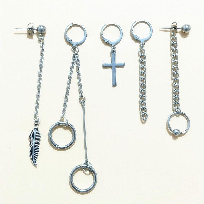 5 pcs/set KPOP Bangtan Boys Album BTS JIMIN Stud Earrings Korean Fashion Jewelry Accessories For Mens And Womens Earring