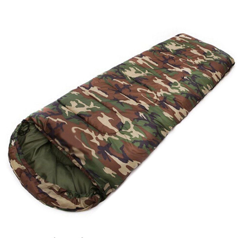 JHO-Baumwolle Camping schlafsack 15 ~ 5 grad umschlag stil camouflage Multifuntional Outdoor Schlafsack Reise Halten Warme LazyBag