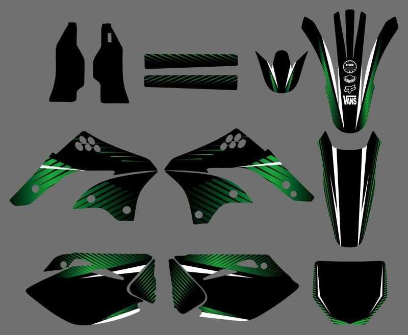 0237 Power New Style TEAM GRAPHICS&BACKGROUNDS DECALS STICKERS Kits  for KX450F KXF450 2006 2007 2008