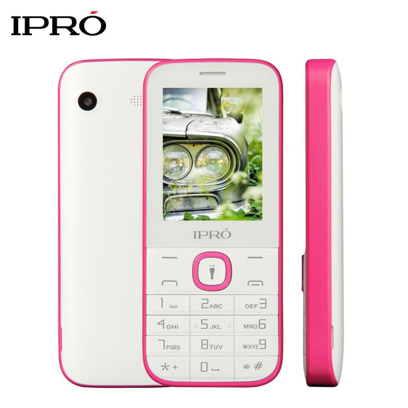 Original IPRO I324F Push-Button Telephone 2.4 inch Unlock Mobile Phone for Elders GSM Dual SIM Cards Cellphone Russian Language