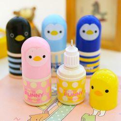 Kawaii plástico líquido Corrector cinta de corrección creativa Oficina escuela papelería lindo Chick novedad
