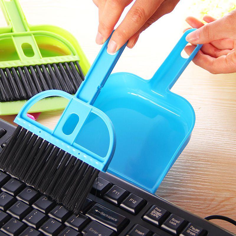 Хит продаж мини очистки Sweeper Кисточки и совок набор для автомобиля клавиатура углу, Бесплатная доставка.