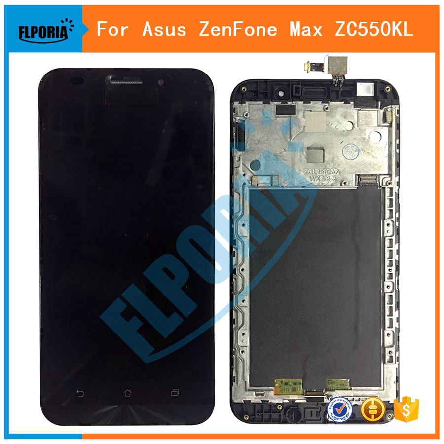FLPORIA For Asus ZenFone Max ZC550KL LCD Display with Touch Screen Digitizer Assembly With Frame Free Shipping