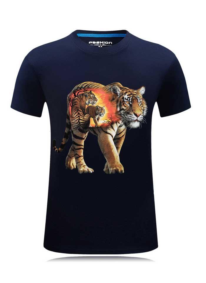 3D T-Shirt hommes 2019 mode d'été drôle T-shirt loup imprimé o-cou grande taille 6XL hip hop vêtements noir cool hommes hauts t-shirts