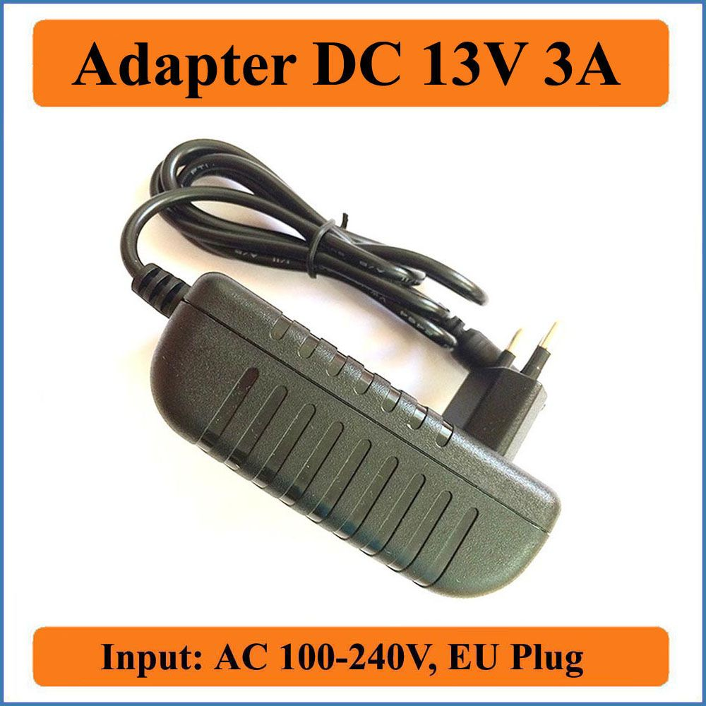 13V 3A EU Plug AC DC Adapter 1PCS AC 100V-240V Converter Adapter to DC 13V 3A 3000mA Charger Power Supply 5.5mm x 2.1-2.5mm