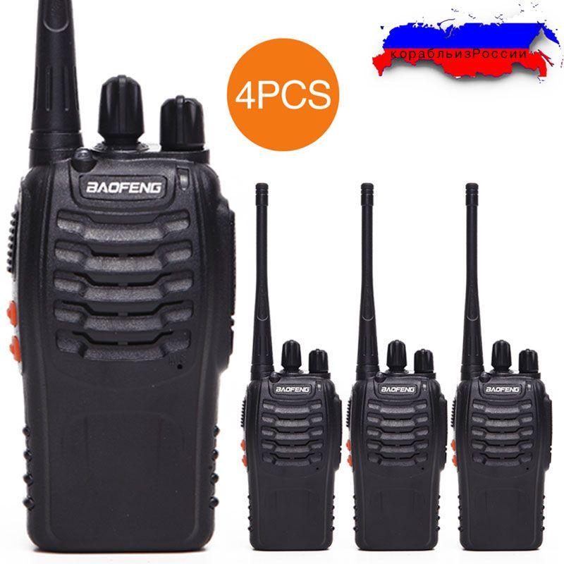 4 pièces Baofeng BF-888S Talkie Walkie UHF BF888S Two Way Radio CB appareil de Radio 888 S Comunicador Émetteur Émetteur-Récepteur avec casque