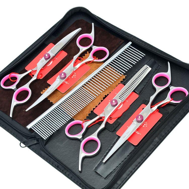 Meisha 6 pouces japon 440c ciseaux pour animaux de compagnie Set outils de toilettage professionnel chien ciseaux de coiffure pour coupe de cheveux chiot chat HB0015