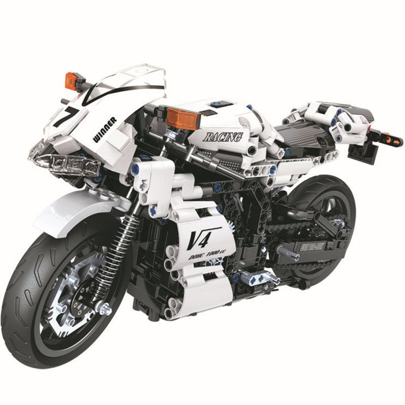 WEILE Technic City Motorcycle Moto Model Building Blocks Sets Bricks Kids Classic Toys Gift For Children Compatible Legoings Car