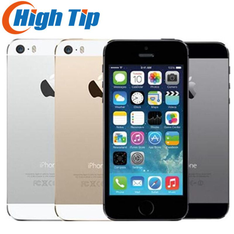 iPhone 5S Factory Unlocked Original <font><b>16GB</b></font>/32GB/64GB ROM 8MP Touch ID iCloud App Store WIFI GPS 4.0 inch Fingerprint IOS