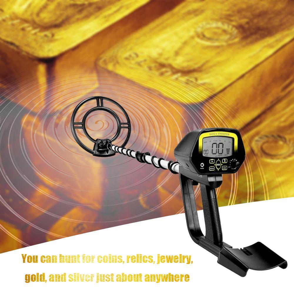 KKMOON Portable Underground Metal Detector High Sensitivity Treasure Hunter Gold Detectors Easy Installation LCD