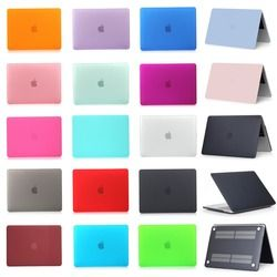Pour Apple Macbook Air Pro Retina 11 12 13 15 pouce avec Tactile Bar Givré Surface Mat Cas Dur de Couverture
