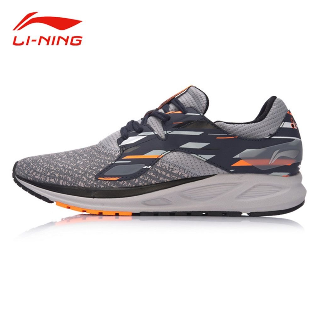 Li-Ning Men FLASH Light Comfort Running Shoes Wearable Anti-Slip Fitness Sneakers LI NING Autumn Flexible Sports Shoes ARBM057
