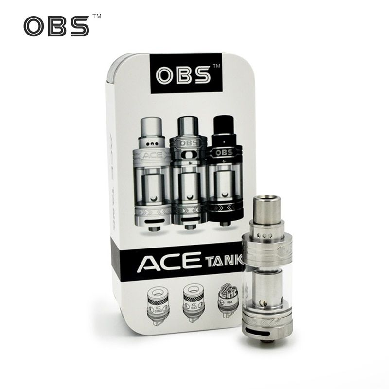 stock Original OBS ACE Tank 4.5ml with Ceramic 0.85 Coil or With RBA Coil OBS ACE Atomizer