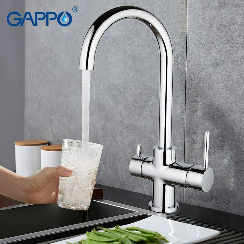 GAPPO waterfilter robinets cuisine robinet mélangeur robinets robinet d'eau évier mélangeur bronze robinet d'eau évier torneira cozinha GA1052-8