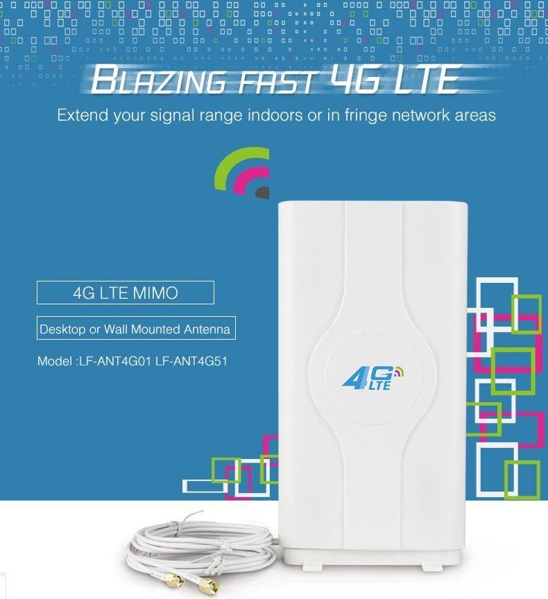 4G LTE antenne 40dBi SMA stecker Wireless für 4G router HUAWEI B593 B970 E5186 B3000 modem antenne