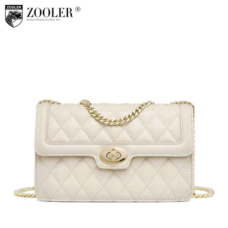 ZOOLER Fashion Genuine leather bags for woman Luxury cross body chains famous brand bolsos mujer shoulder bag E-119