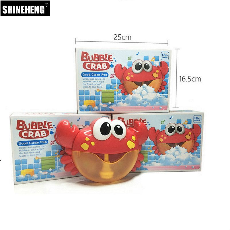New Arrival Bubble Crabs Baby Bath Toy Funny Bath Bubble Maker Pool Swimming Bathtub Soap Machine Toys for Children Kids