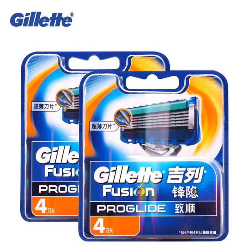 Original Gillette Fusion ProGlide Manual Razor Blade Men'S Shaving Brand Shave Facial Beard Shaver Razors Blades 8pcs For Men