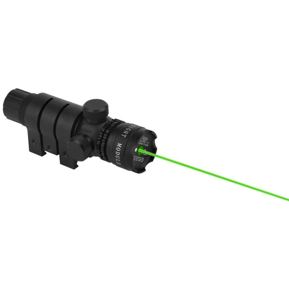 1 stück Leistungsstarke Durable Aluminium Taktische Jagd 532nm Welle Länge Grün Dot Laser-anblick-bereich Mit Schiene Montieren Drop Verschiffen