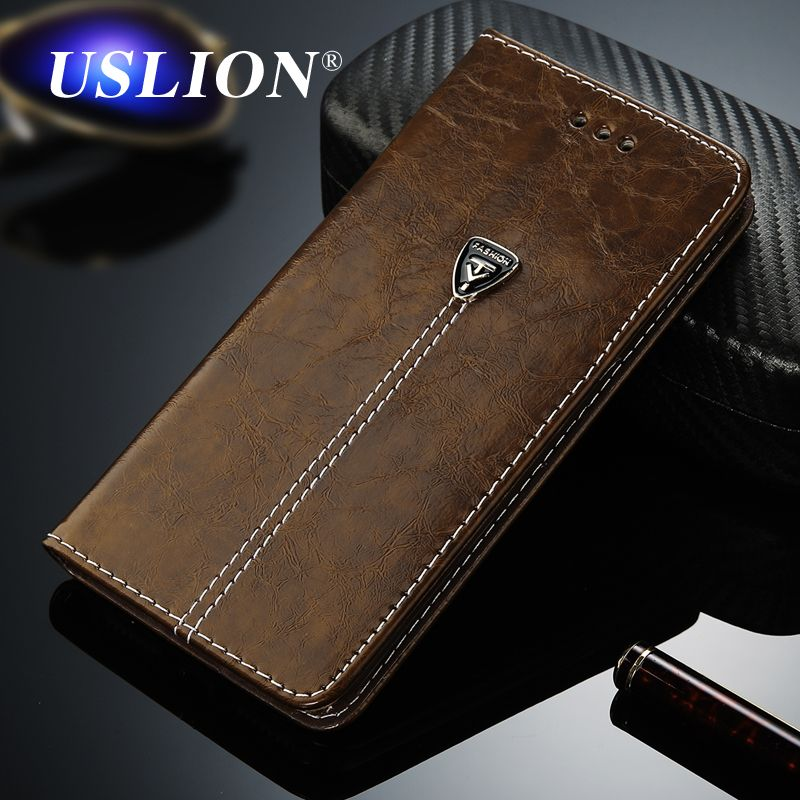 USLION Luxury Flip Leather Phone Case For iPhone 7 5 5s SE 6 6 Plus Wallet Card Slots Cases Cover For iPhone X XS Max XR 8 Plus