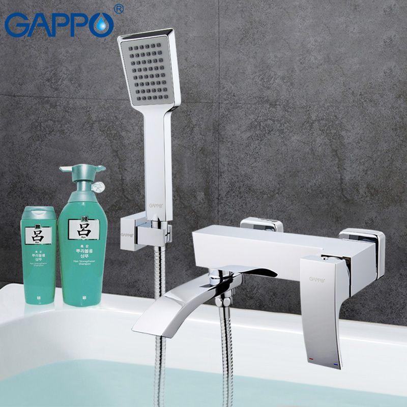 GAPPO Bathtub faucet mixer bath bathroom sink shower faucets tap brass mixer torneira bathtub sink tap hand shower set GA3207