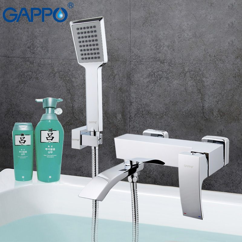 GAPPO Bathtub faucet mixer bath bathroom sink shower faucets tap brass mixer torneira bathtub sink tap hand shower set