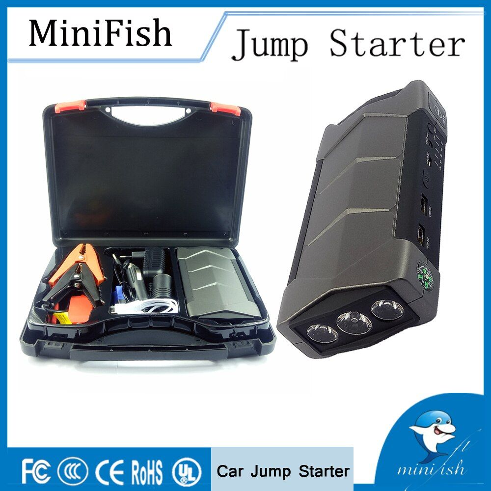 600A Peak Current Portable Mini Booster Battery Car Jump Starter For Petrol 8.0L Diesel 6.0L Emergency Auto Power Bank Charger