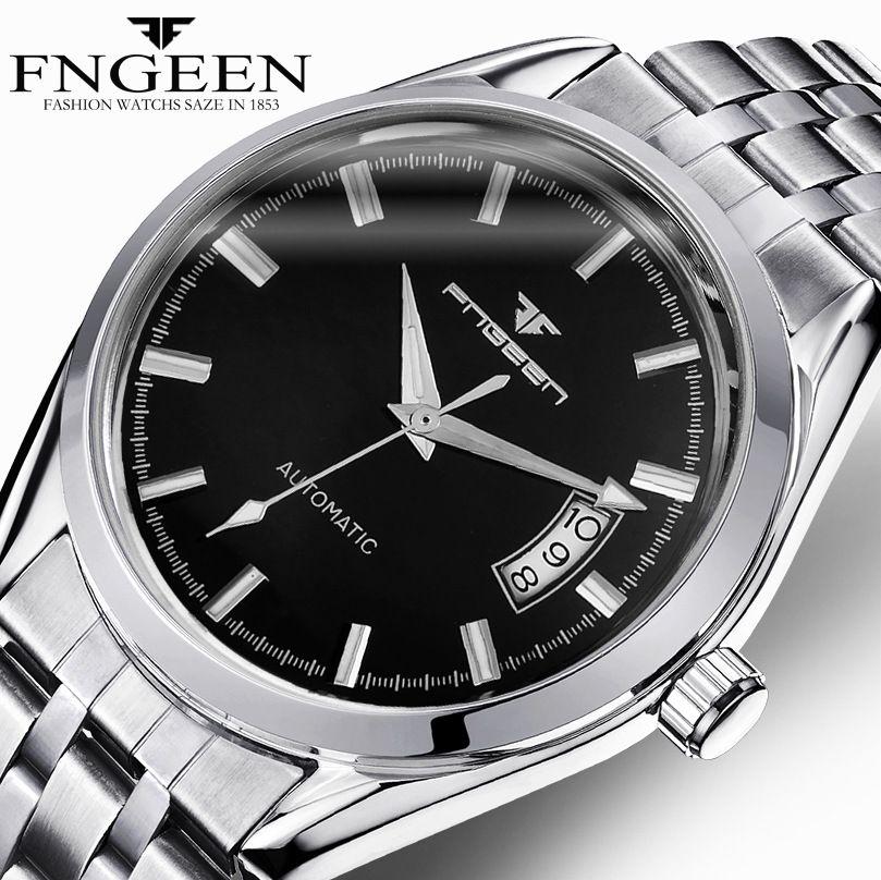 FNGEEN Relogio Automatico Men Mechanical Watches Date Calendar Male Automatic Watch Clock automatyczny <font><b>zegarek</b></font> meski 6612-2