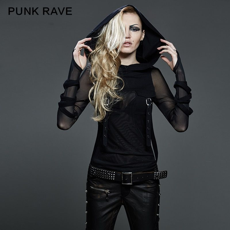Nouveau Punk Rave Emo Rockabilly Gothique Vintage Top Chemise Coton Femmes de mode M XL 3XL T407