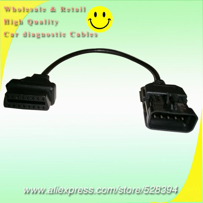 15% Off for Opel 10Pin To 16Pin OBD2 Car Extension Diagnostic tool connector Cable For Opel 10 PIN OBD/OBD2 Scan Tool Cable