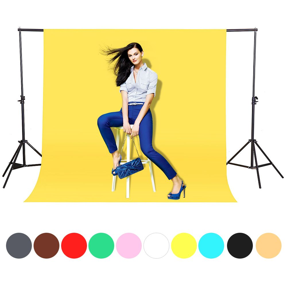 CY In stock 1.6x3m yellow Cotton Non-Woven Textile Muslin Photo Backgrounds Studio Photography Screen Chromakey Backdrop