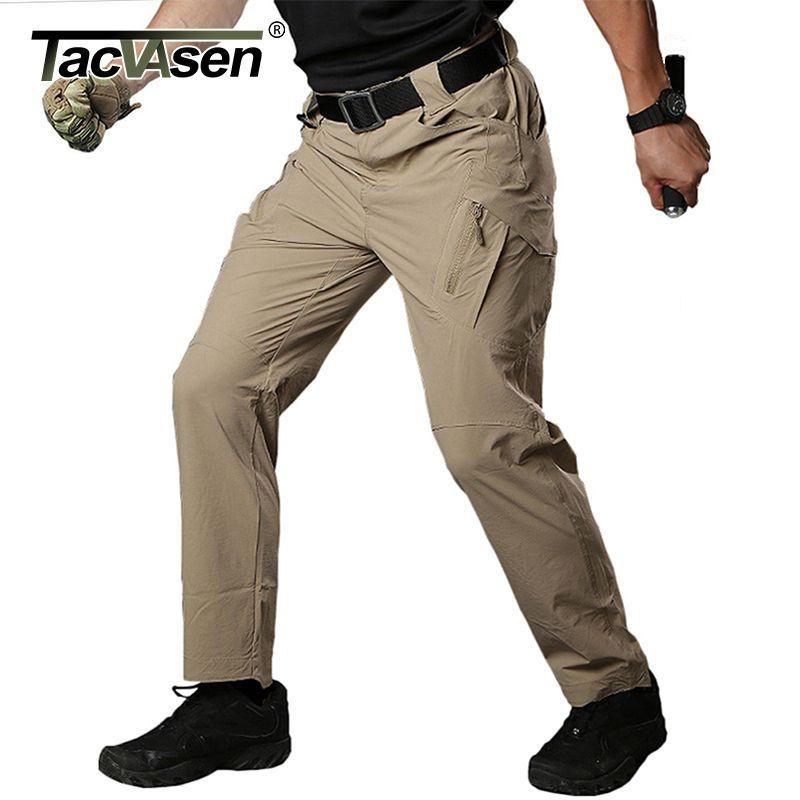 TACVASEN IX9 Men Summer Tactical Pants Mens Waterproof Cargo Pants Military Quick Drying Pants Army Combat Trousers TD-QZJL-018