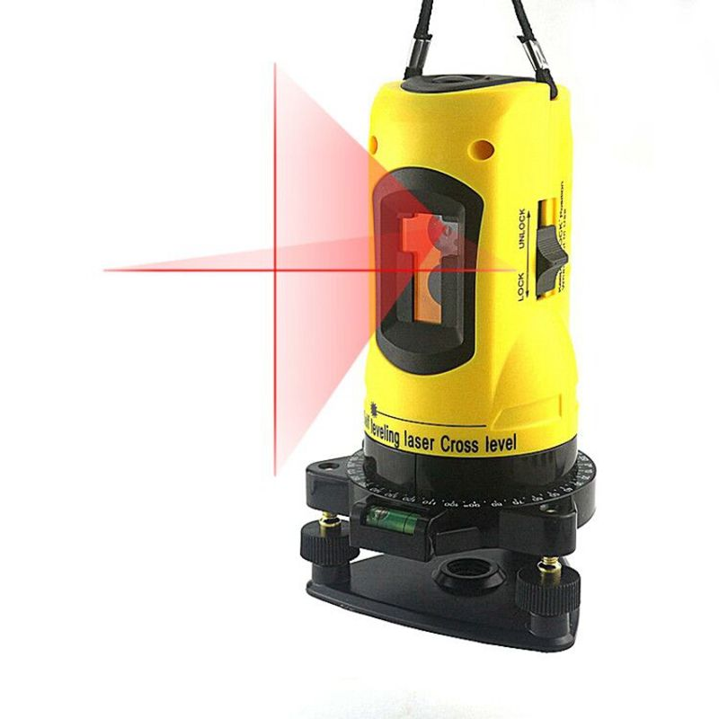 Ketotek Laser Level 650nm 2 Red Cross Lines 360 Rotary Degree Self- leveling Nivel Laser Diagnostic-tools Yellow