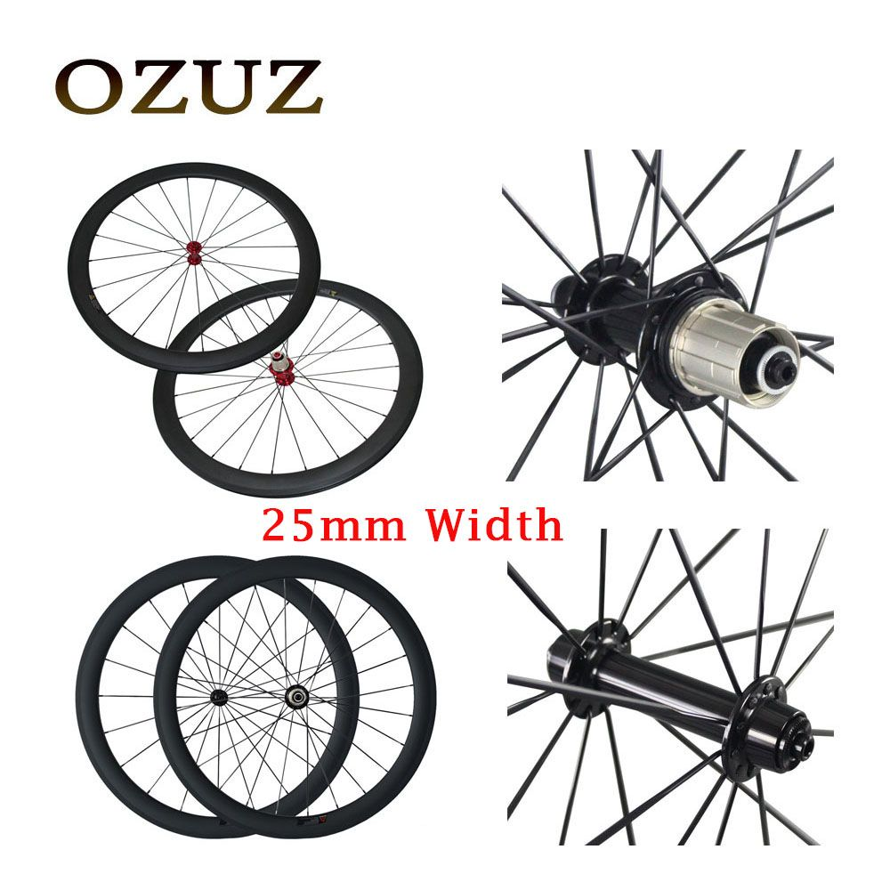 700C Super light Powerway R13 carbon bicycle wheelset 25mm width 38mm 50mm depth Clincher Tubular bike wheels R36 Straight pull
