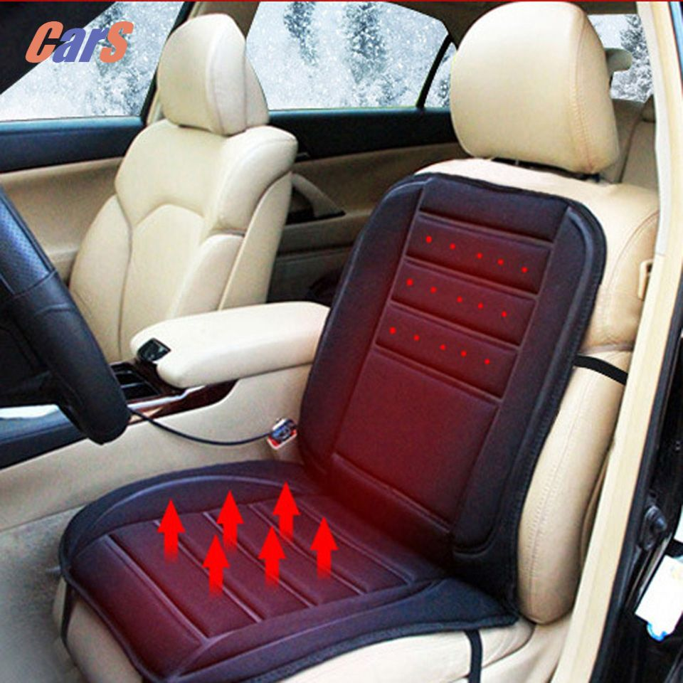 12V Winter Car Seat Warmer Car Seat Cover <font><b>Cold</b></font> Days Heated Seat Cushion Cover Auto Heating Heater Warmer Pad