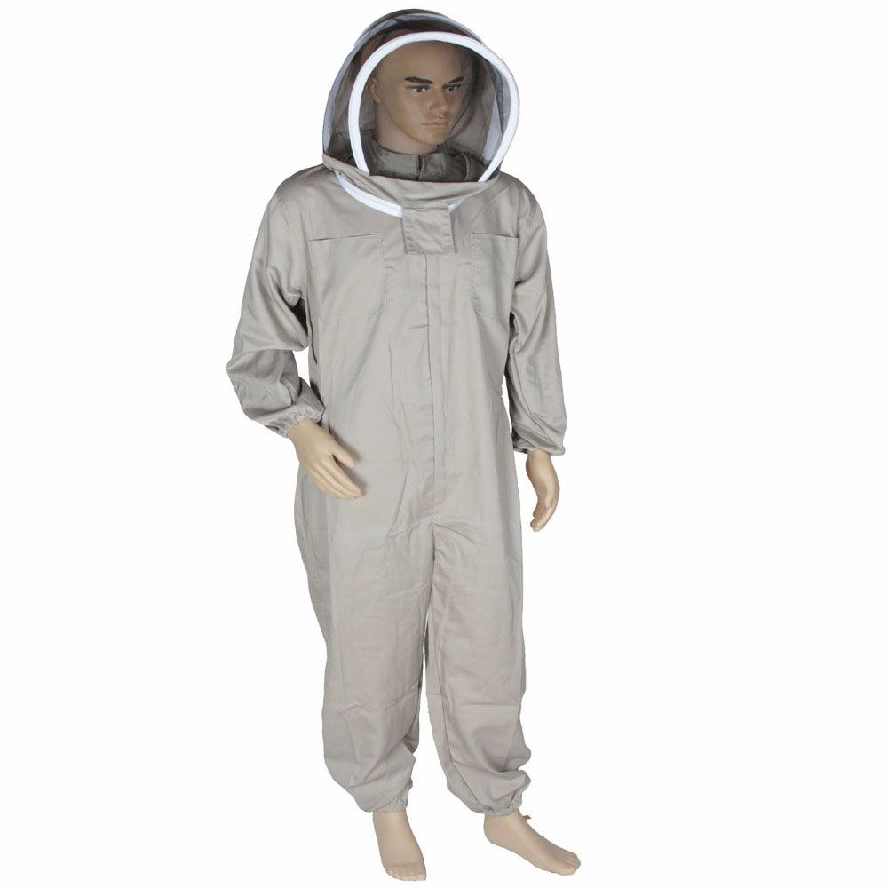 Bee Keeping Suit Removeable Hat Anti-bee Protective Safety Coveralls Smock Equipment Supplies Beekeeping Jacket Veil Set