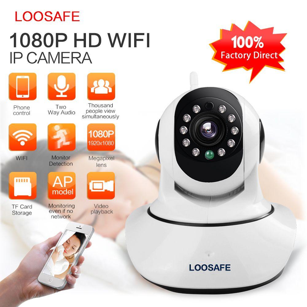 LOOSAFE HD 1080P IP Camera WIFI Camera Surveillance Camera 2 MP Baby <font><b>Monitor</b></font> Wireless P2P IP Camara PTZ Wifi Security Cam