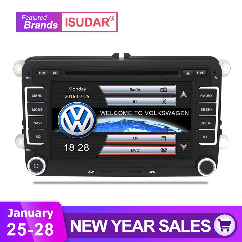 Isudar Car Multimedia player 2 Din Car DVD For VW/Volkswagen/Golf/Polo/Tiguan/Passat/b7/b6/SEAT/leon/Skoda/Octavia Radio GPS DAB