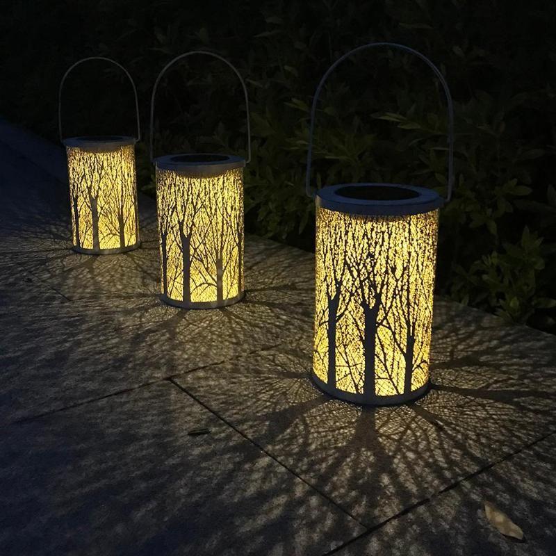 1.2V éclairage extérieur LED à alimentation solaire suspension lumière jardin Yard pelouse décoration lampe lumière de jardin solaire blanc chaud